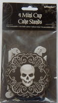 Fright Night Skull Mini Cup Cake Stands (4)